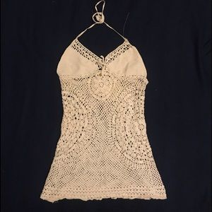 Free people crochet beach coverup or top